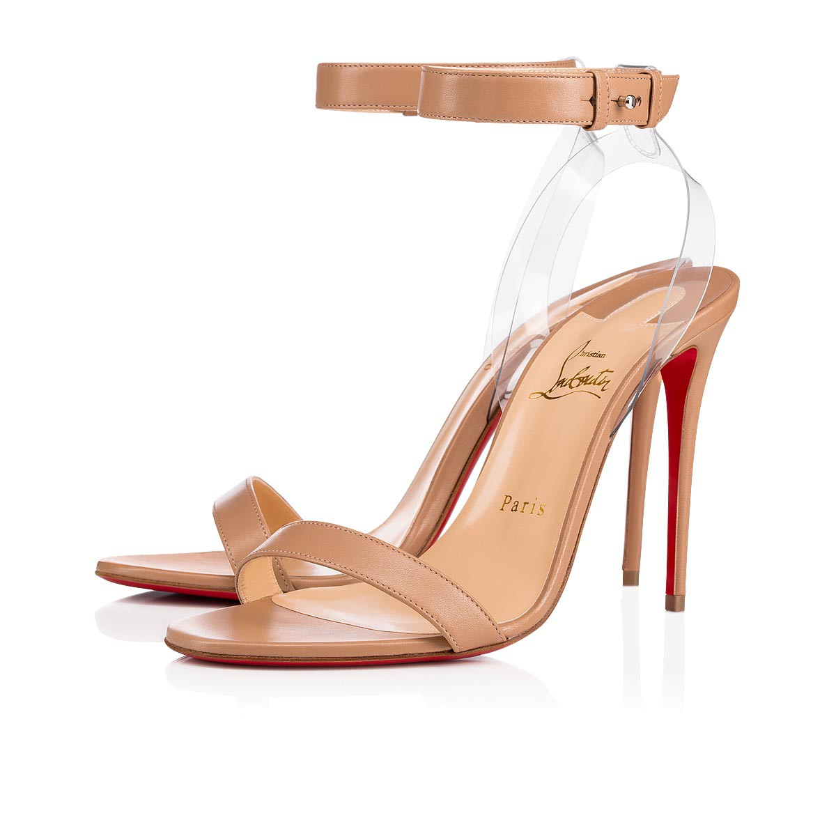 watch 9c9dd e219e Jonatina 100 Nude/Transp Leather - Women Shoes - Christian Louboutin