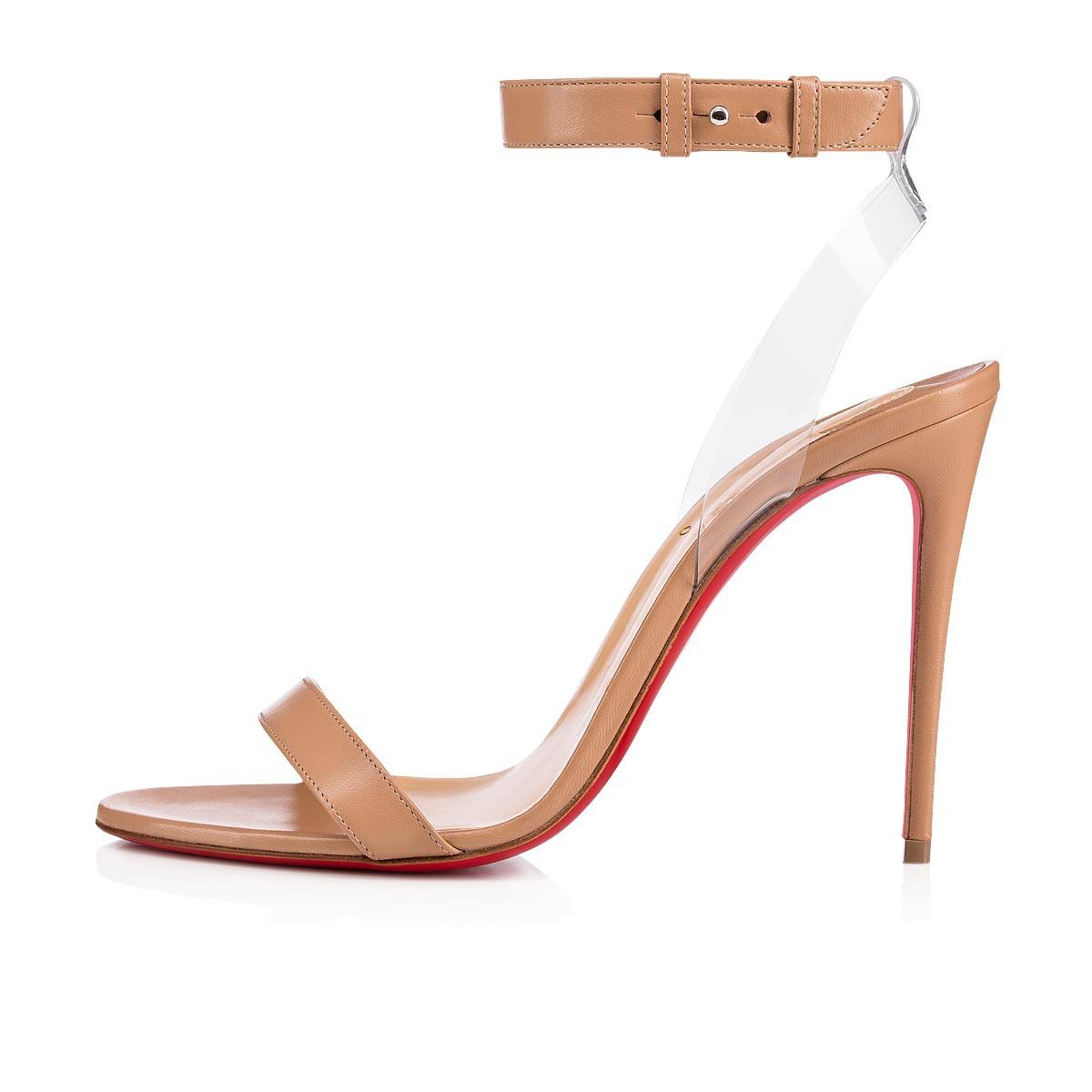 watch 0bea4 95d7e Jonatina 100 Nude/Transp Leather - Women Shoes - Christian Louboutin