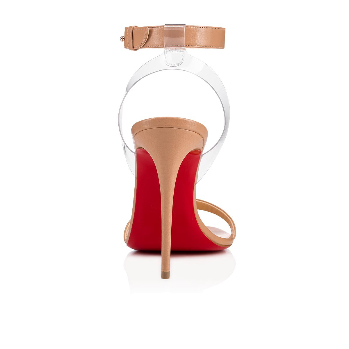 low priced 7b164 450af Jonatina 100 nappa 100 Nude/Transp Leather - Souliers Femme - Christian  Louboutin