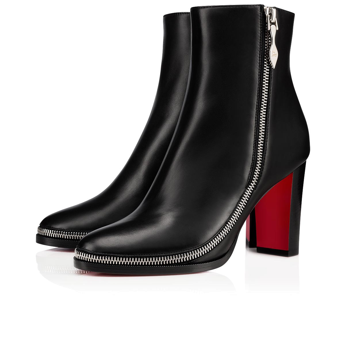 release date: 82d60 3a28b Telezip 85 Black/Black Lucido Leather - Women Shoes - Christian Louboutin