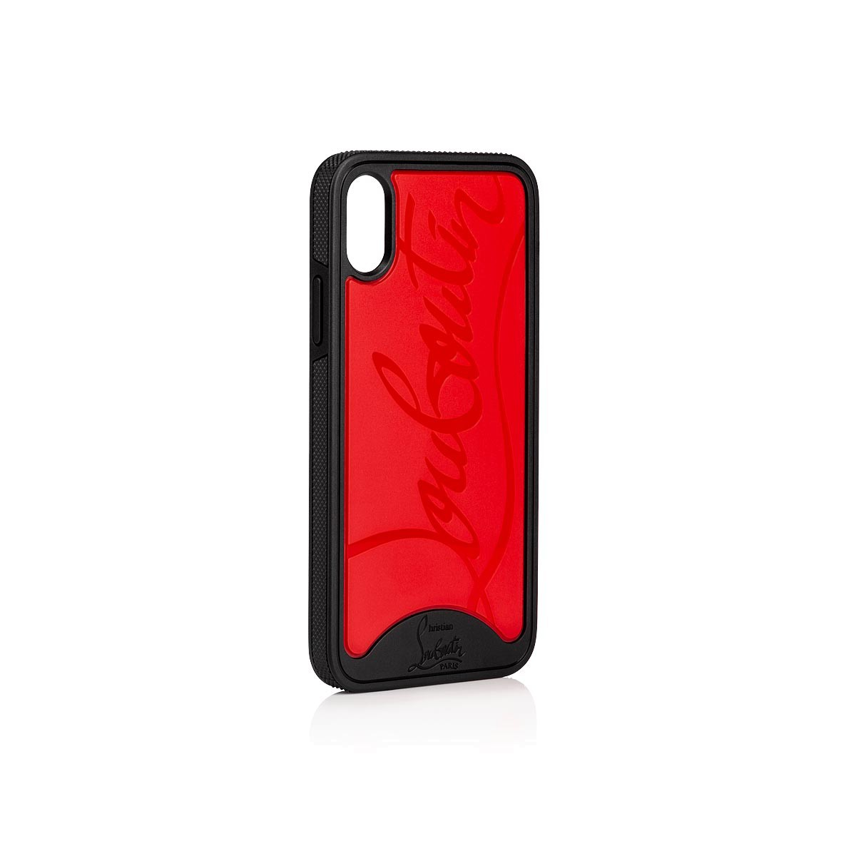 more photos 1aa9a dde35 Iphone X Loubiphone Red and Black Rubber - Accessories - Christian Louboutin