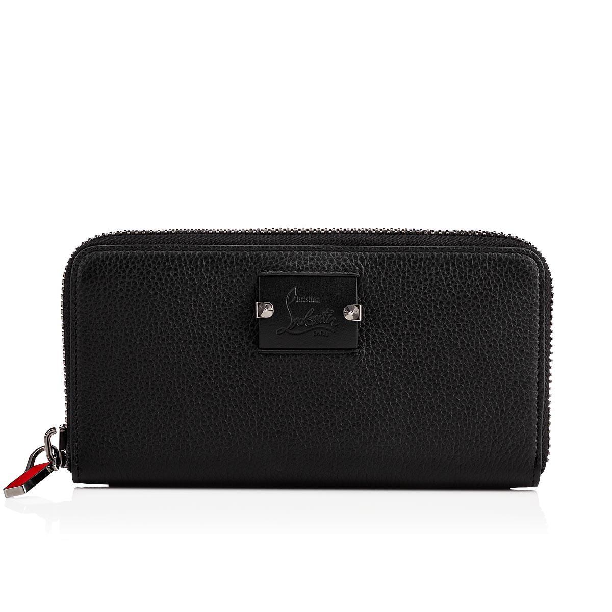 1e3c4f8eeb3 Panettone Wallet Black Calfskin - Accessories - Christian Louboutin