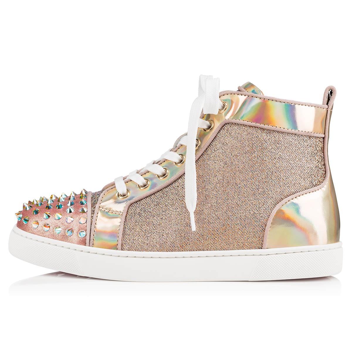 Shoes - Lou Spikes Krystal Donna Flat - Christian Louboutin
