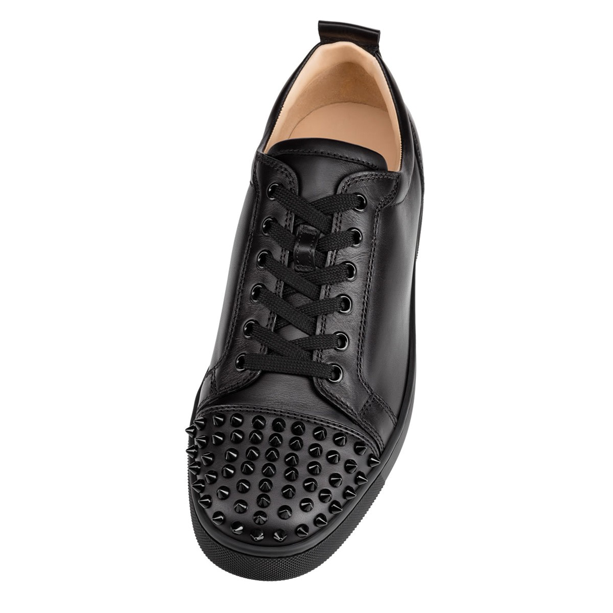 christian louboutin louis flat spikes black