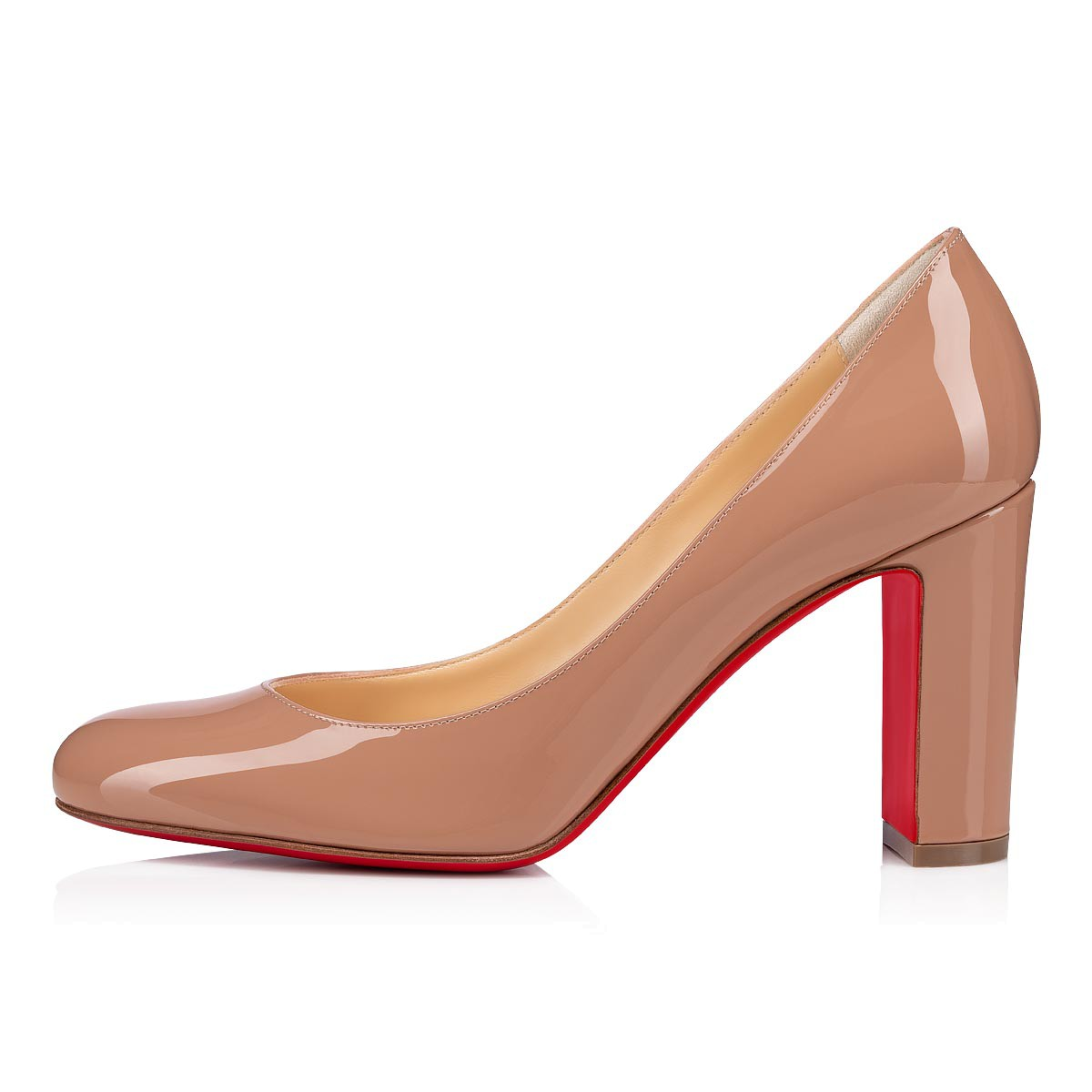 NEW VERY PRIVE 100 Nude Patent Leather - Women Shoes