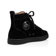 Shoes - Navy Louis Strass Flat - Christian Louboutin