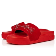Shoes - Navy Pool Strass Flat - Christian Louboutin