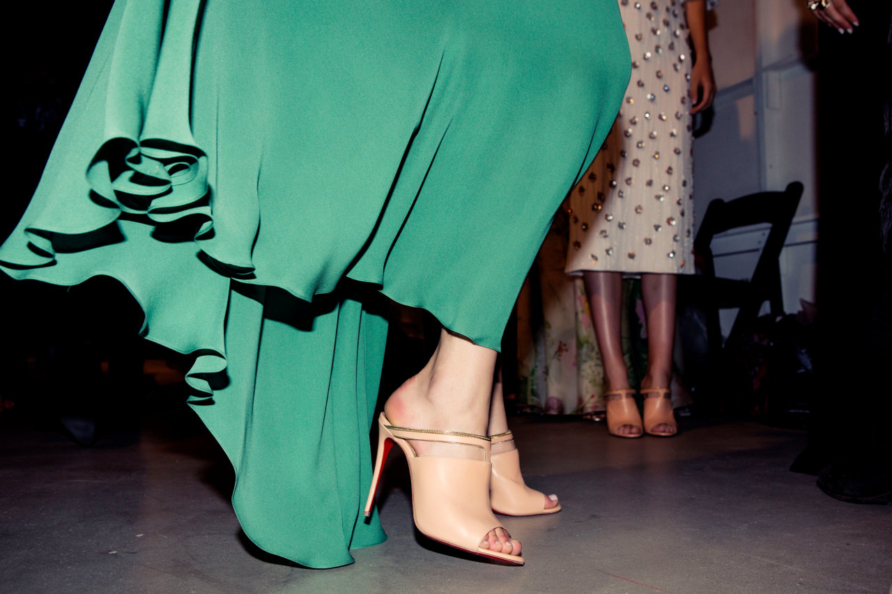 christian louboutin open-toe mules | The Little Arts Academy
