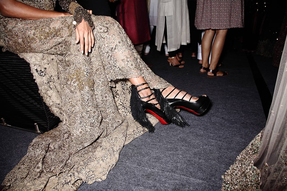 christian louboutin collaboration with sabyasachi