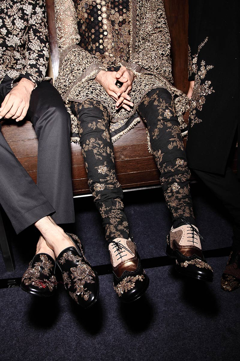 christian louboutin with sabyasachi