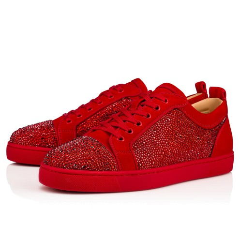 Shoes - Louis Junior Strass Flat - Christian Louboutin
