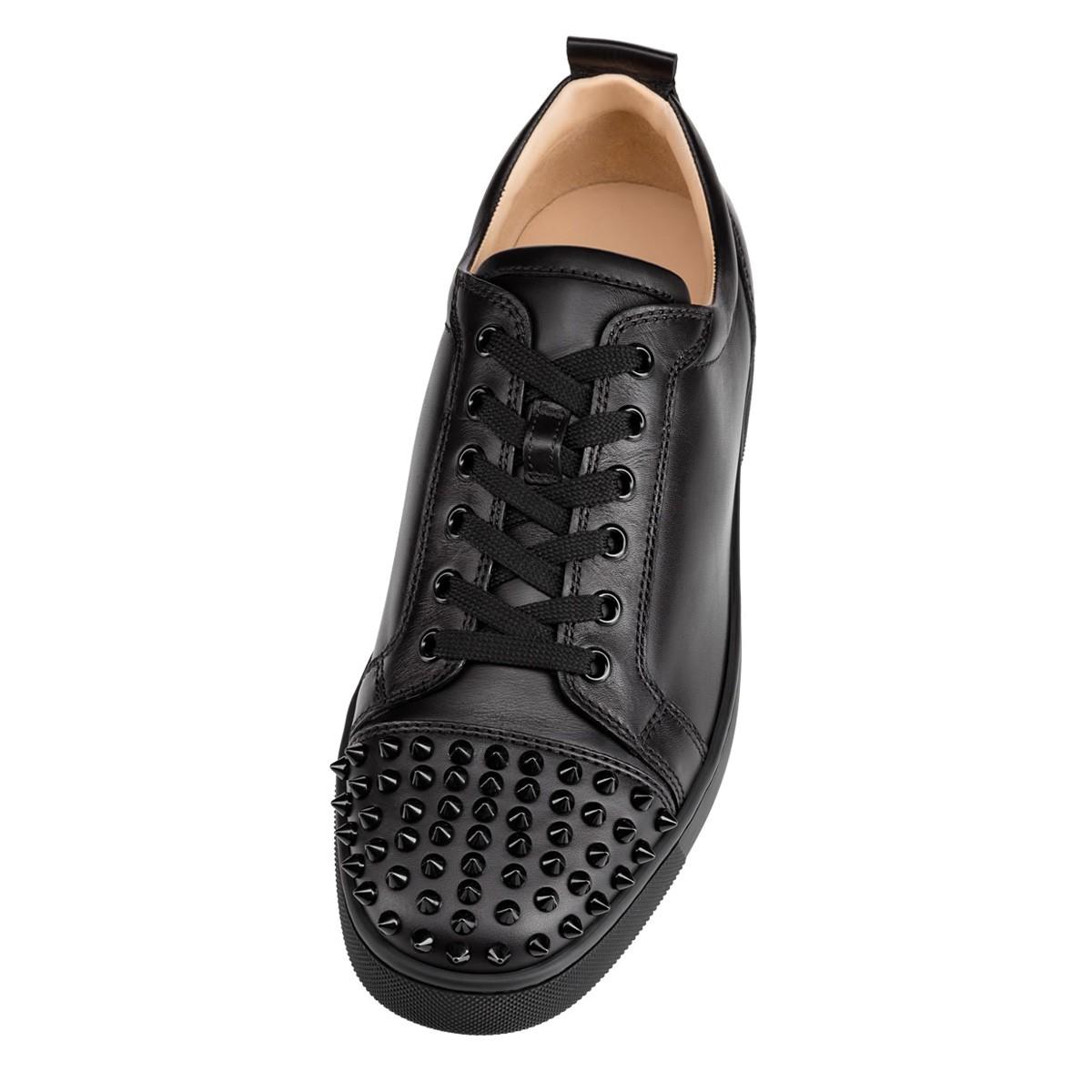 Shoes - Louis Junior Spikes Flat - Christian Louboutin