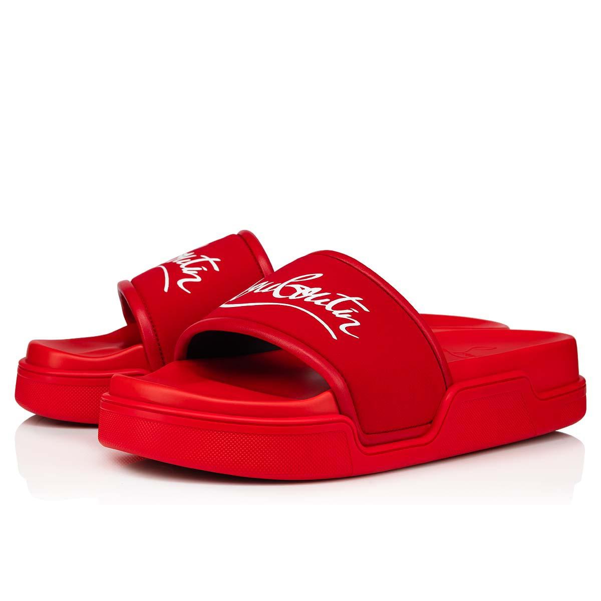 Shoes - Navy Pool Flat - Christian Louboutin