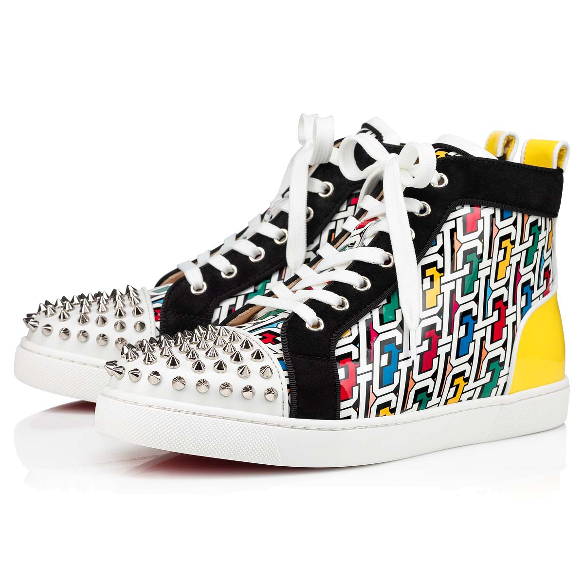 Shoes - Lou Spikes Woman Orlato Flat - Christian Louboutin