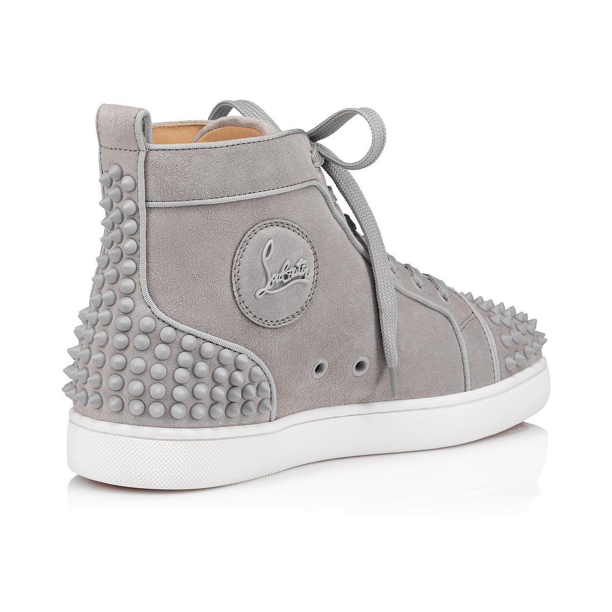 LOU SPIKES 2 GREY SUEDE - Men Shoes