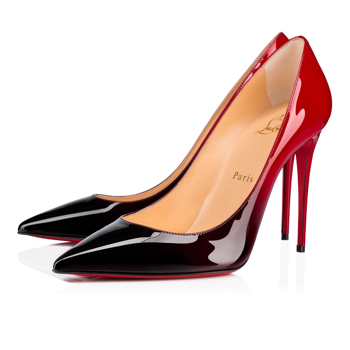 Pianeta Appuntamento una tazza di  KATE 100 Black-Red Patent Leather - Women Shoes - Christian Louboutin